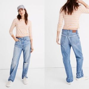 Madewell The Dadjean: Bleached Edition Size 27 NWT